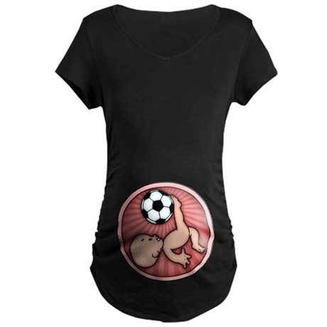 Soccer Baby Kick Maternity Dark T-Shirt