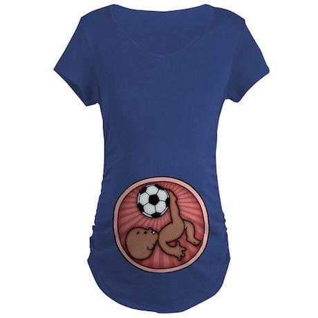 Soccer Baby Kick Maternity Shirt