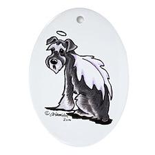 Schnauzer Angel Ornament (Oval)