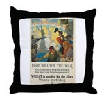 Food Will Win the War Throw Pillow