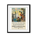Food Will Win the War Framed Panel Print