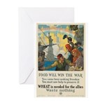 Food Will Win the War Greeting Cards (Pk of 10)