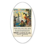 Food Will Win the War Sticker (Oval)