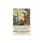 Food Will Win the War Sticker (Rectangle 10 pk)
