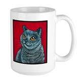 "British Grey Blue ""Angel"" Mug"