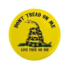 "Don't Tread On Me 3 3.5"" Button (100 pack)"