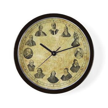 """Pope Pius Clock - 10"""" Wall Clock"""