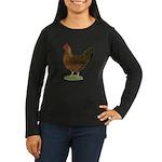 Welsummer Hen Women's Long Sleeve Dark T-Shirt