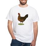 Welsummer Hen White T-Shirt