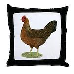 Welsummer Hen Throw Pillow