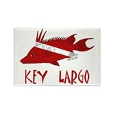 Key Largo Rectangle Magnet