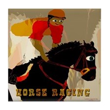 Horse Racing Tile Coaster