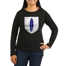 Blue Feather Women's Long Sleeve Dark T-Shirt