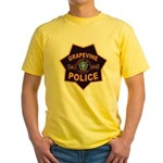 Grapevine Police Yellow T-Shirt