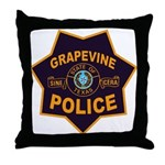 Grapevine Police Throw Pillow