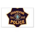 Grapevine Police Sticker (Rectangle 10 pk)