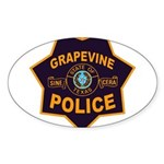 Grapevine Police Sticker (Oval 50 pk)