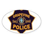 Grapevine Police Sticker (Oval 10 pk)