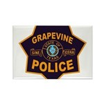 Grapevine Police Rectangle Magnet