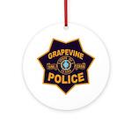 Grapevine Police Ornament (Round)