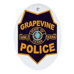 Grapevine Police Ornament (Oval)