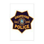 Grapevine Police Mini Poster Print
