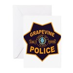 Grapevine Police Greeting Cards (Pk of 20)