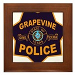 Grapevine Police Framed Tile
