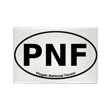 Pisgah National Forest Euro Rectangle Magnet (10 p