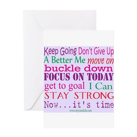 Inspirational Greeting Cards on Cafepress   Greeting Cards   Inspirational Words Greeting Card