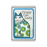 CRAZY CAT LADY Refrigerator Magnet