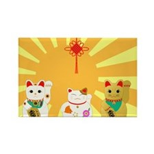 Lucky Cats Rectangle Magnet (10 pack)