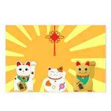 Lucky Cats Postcards (Package of 8)