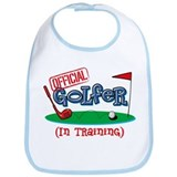 Boy Golfer In Training Bib