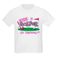Girl Golfer In Training T-Shirt
