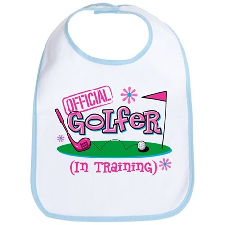 Girl Golfer In Training Bib