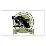 Doberman army green Decal