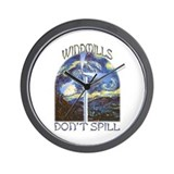 Funny Wind turbine Wall Clock