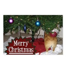 Funny Christmas Corgi Postcards (Package of 8)
