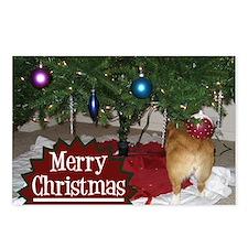 Funny Christmas Corgi Postcards (Package of 8)
