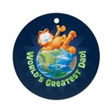 World's Greatest Dad Ceramic Ornament (Round)