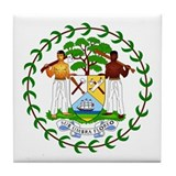 Belize Coat of Arms Emblem Tile Coaster