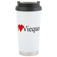 I Love Vieques Ceramic Travel Mug