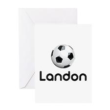 Soccer Landon Greeting Card