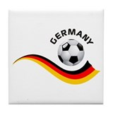 Soccer GERMANY Ball Tile Coaster