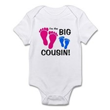 Big Cousin Baby Footprints Infant Bodysuit
