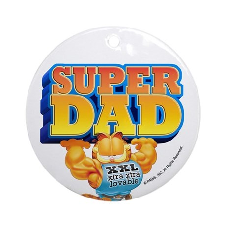 Super Dad! Ceramic Ornament (Round)