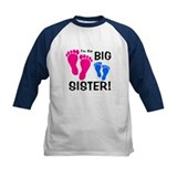Big Sister Baby Footprints Tee