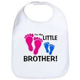 Little Brother Baby Footprint Bib