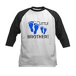 Little Brother Baby Footprint Kids Baseball Jersey